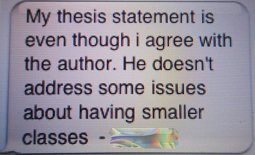 test my thesis statement